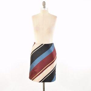 Ann Taylor Striped Pencil Skirt